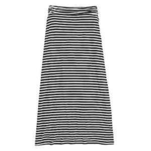 J. Crew stripe jersey maxi skirt size XS // J31